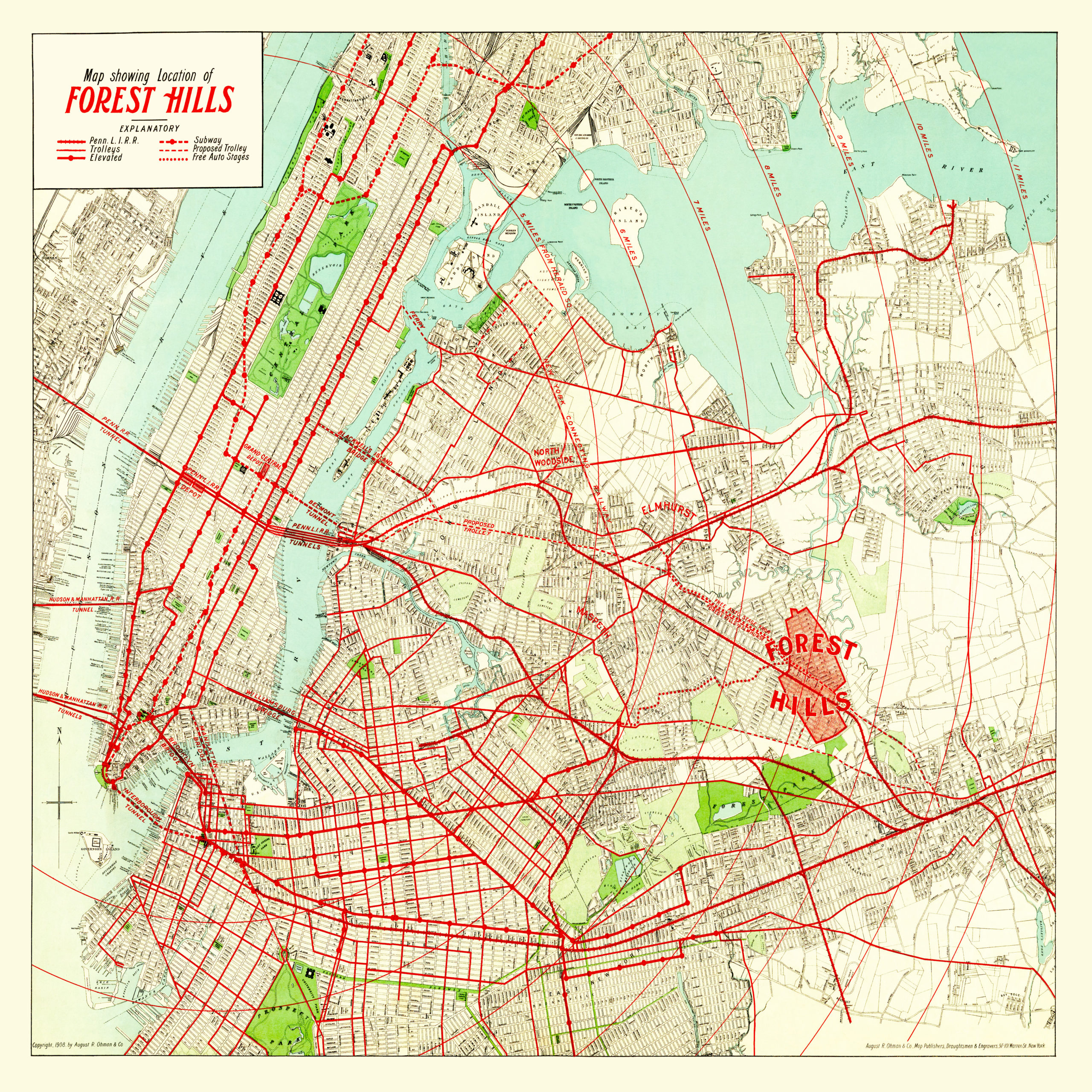 Amazingly Detailed Map of Forest Hills, Queens From 1908 | Terrace on