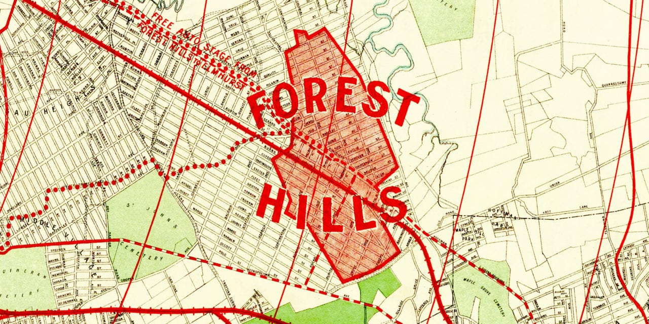 Beautifully restored map of Forest Hills, Queens from 1908
