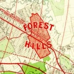 Wonderfully detailed map of Forest Hills, Queens from 1908