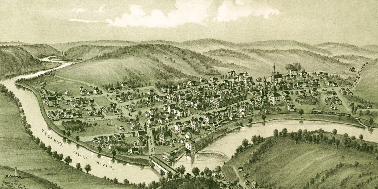 Historic old map of Philippi, West Virginia in 1897