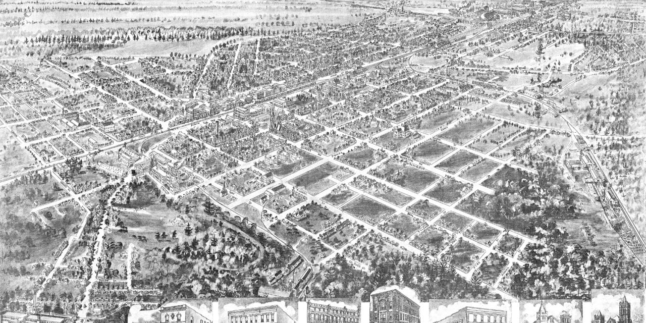 Bird's eye view of Rocky Mount, North Carolina in 1907