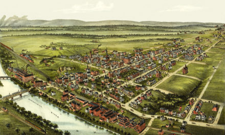 Beautifully detailed map of Royersford, PA from 1893