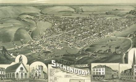 Beautiful bird's eye view of Shenandoah, PA from 1889