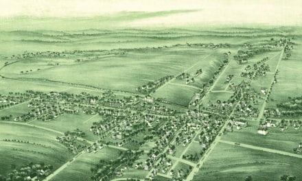 Beautiful old map of Souderton, Pennsylvania from 1894
