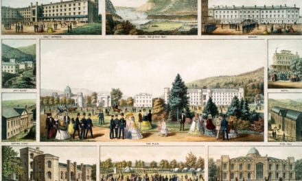 View of West Point, United States Military Academy in 1857