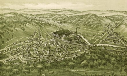 Beautiful bird's eye view of Wilmerding, PA from 1897