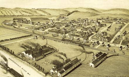 Bird's eye view of Wilson and Mendelssohn, PA in 1902