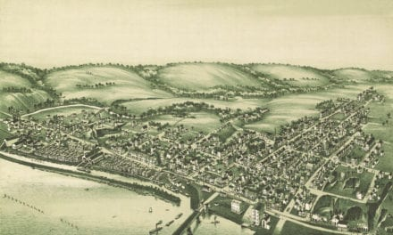 Bird's eye view of Wrightsville, Pennsylvania in 1894
