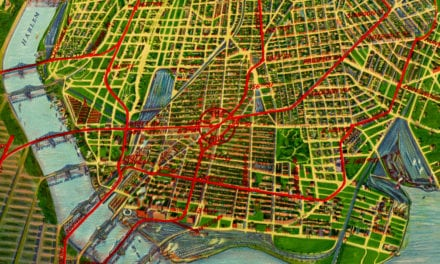 Beautifully restored map of the Bronx, NYC from 1921