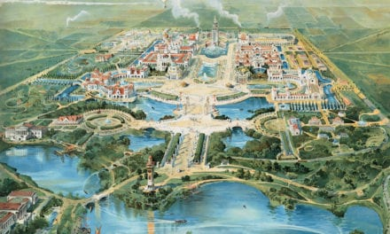 Bird's eye view of Buffalo's Pan-American Exposition of 1901