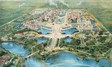 Bird's eye view of Buffalo's Pan-American Exposition of 1901