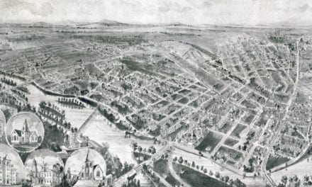 Beautifully restored map of Garfield, New Jersey from 1909