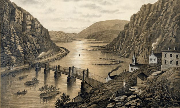 Bird's eye view of Harper's Ferry, West Virginia in the 1880's