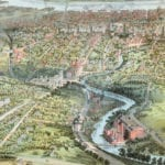Beautifully detailed map of Hartford, Connecticut from 1864