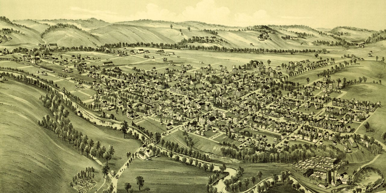Old map reveals bird's eye view of Ligonier, Pennsylvania in 1900