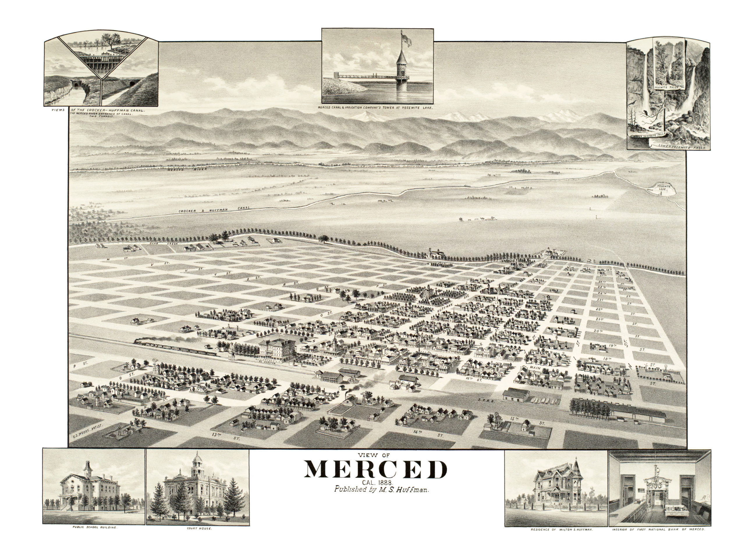 Beautifully Restored Map Of Merced California From 1888 Knowol