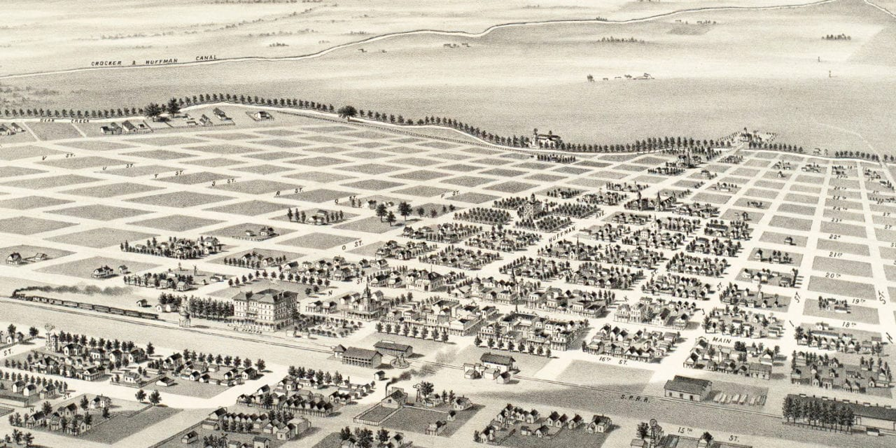 Beautifully restored map of Merced, California from 1888