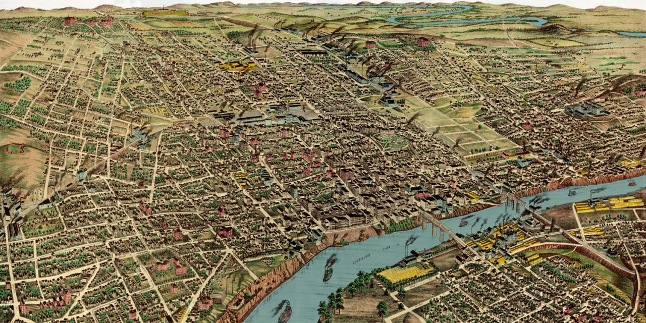 Beautifully restored map of Nashville, Tennessee from 1888 - KNOWOL
