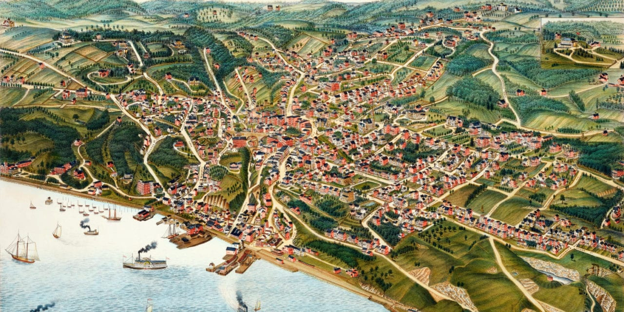 "Beautifully restored map of Ossining, ""Sing Sing"" NY from 1884"