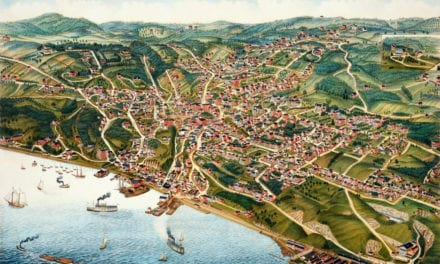 """Beautifully restored map of Ossining, """"Sing Sing"""" NY from 1884"""