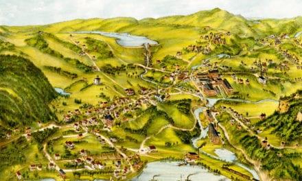Beautifully restored map of Higganum, CT from 1881