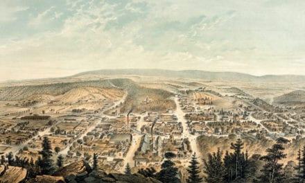 Beautifully restored map of Berkeley Springs, West Virginia from 1889