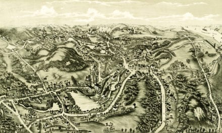 Bird's eye view of Chester, Connecticut from 1881