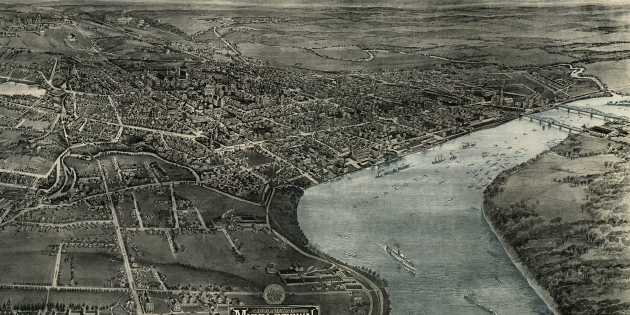 Vintage map shows Middletown, Connecticut in 1915