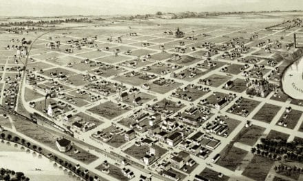 Old map shows a bird's eye view of Wichita Falls, Texas in 1890