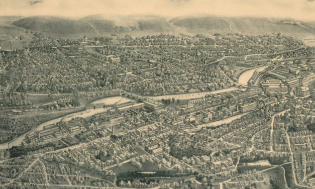 Beautifully restored map of Ansonia, Connecticut from 1921
