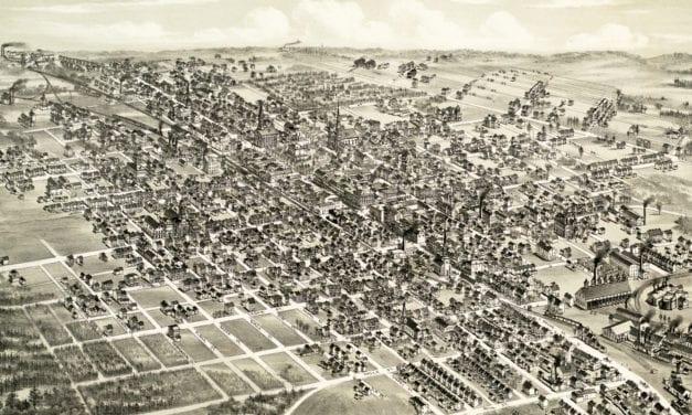 Historic map of Hazleton, Pennsylvania from 1884
