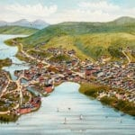 Vintage map of Lake Village & Laconia, New Hampshire in 1883