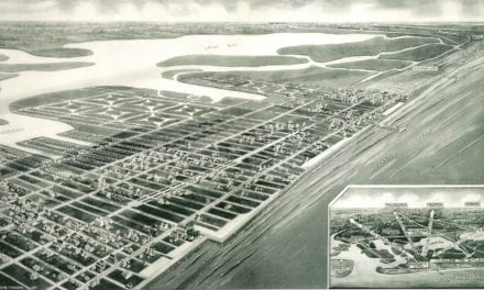 Bird's eye view of Margate City, New Jersey in 1925