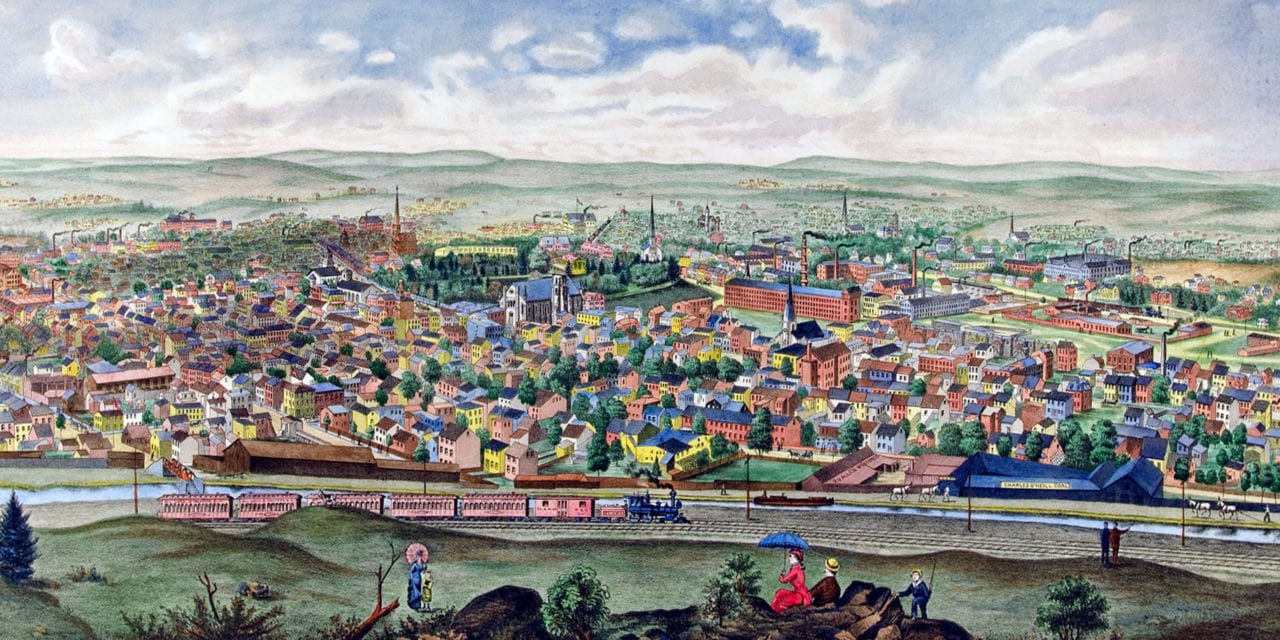 Paterson, New Jersey in 1880: Restored image shows Prosperous Paterson