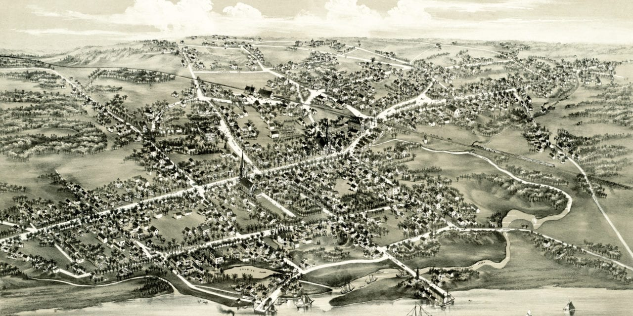 Historic map of Stratford, Connecticut from 1882