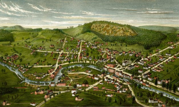 Bird's Eye View of Winchester, New Hampshire in 1887