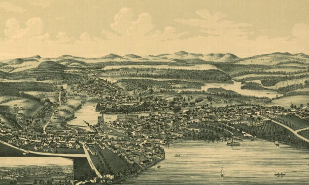 Historic map of Wolfeborough, New Hampshire from 1889