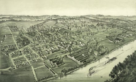 Historical map of Charleroi, Pennsylvania from 1897