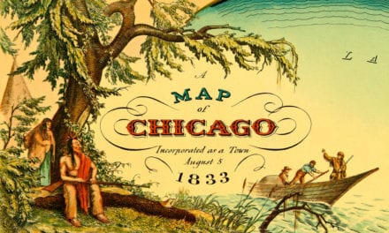 Historical Map showing Chicago, Illinois in 1833