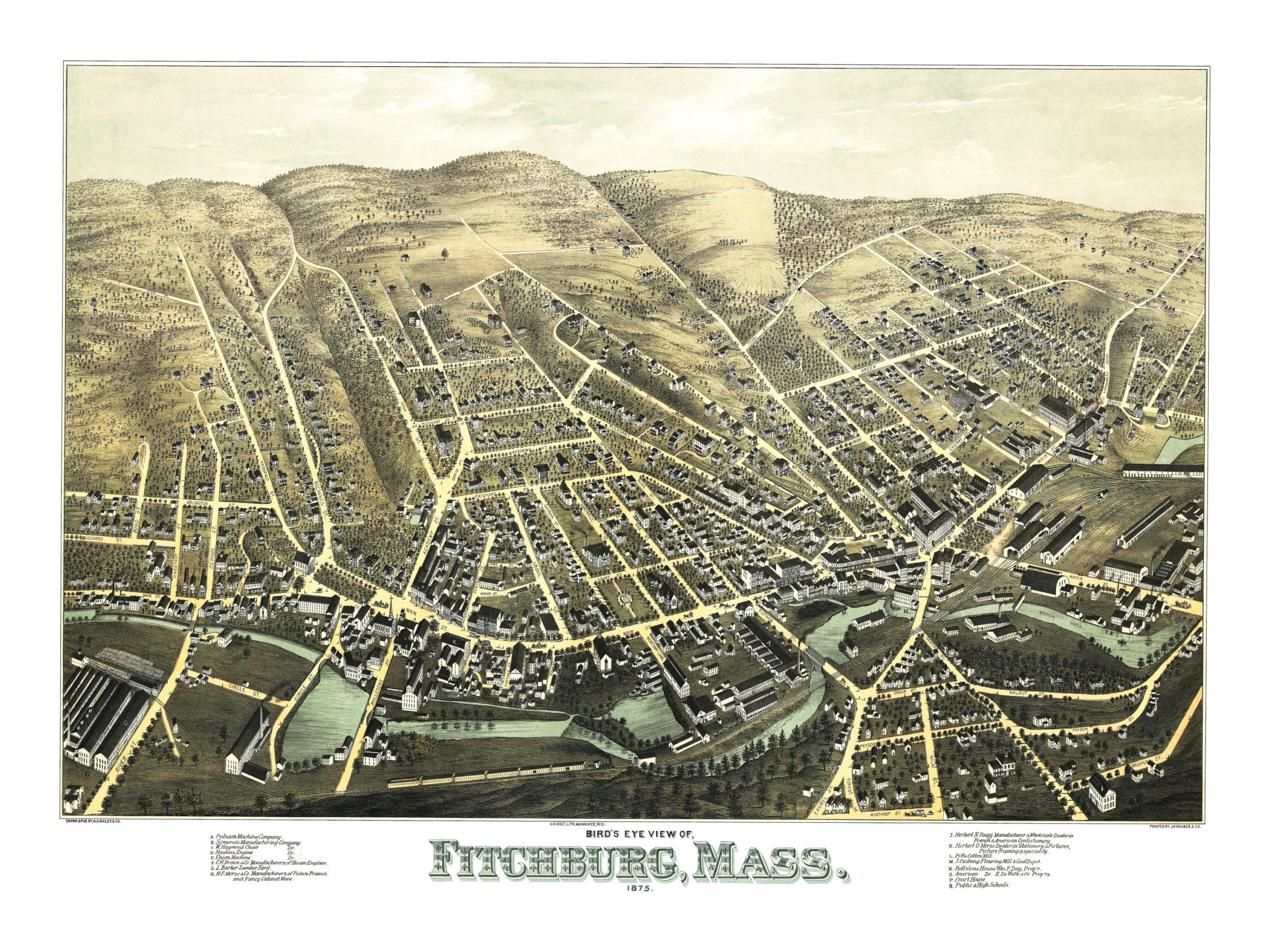 Beautifully restored map of Fitchburg, MA from 1875 - KNOWOL on engine coolant temperature sensor, oil pump, electronic control unit, crankshaft position sensor, oxygen sensor, fuel pump, ignition system, throttle position sensor, timing belt, ignition coil, powertrain control module, air flow meter, engine control unit, manifold vacuum, mass flow sensor, fuel injection,