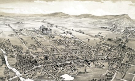 Beautifully restored map of Hackettstown, NJ from 1883