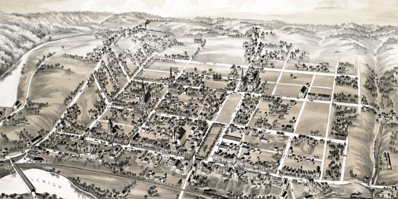 Historic old map of Lehighton, Pennsylvania from 1883
