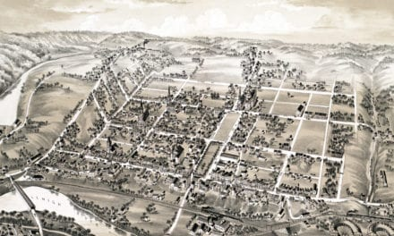 Historic old map of Lehighton, Pennsylvania from 1883