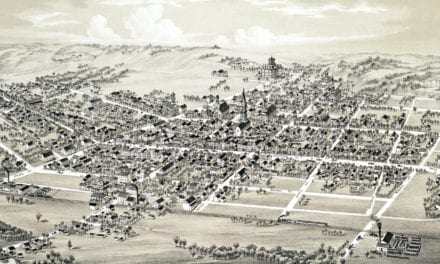 Beautifully restored map of Mifflinburg, PA from 1884