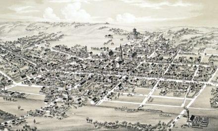 Beautifully restored map of Mifflinburg, PA from 1884