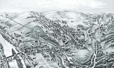 Historic old map of Slatington, Pennsylvania from 1883