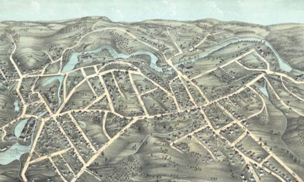 Beautifully restored map of Southbridge, MA from 1878