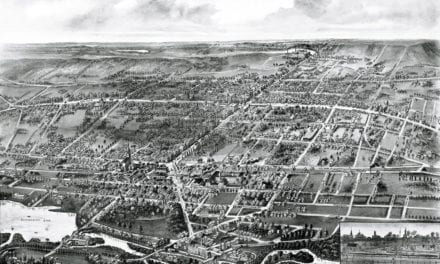 Beautifully detailed map of Wallingford, CT from 1905