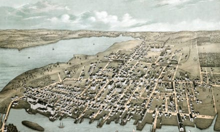 Beautifully restored map of Warren, RI from 1877