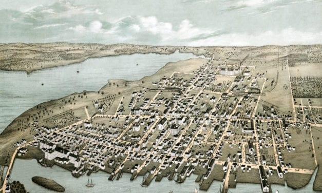 Beautifully restored map of Warren, RI from 1877